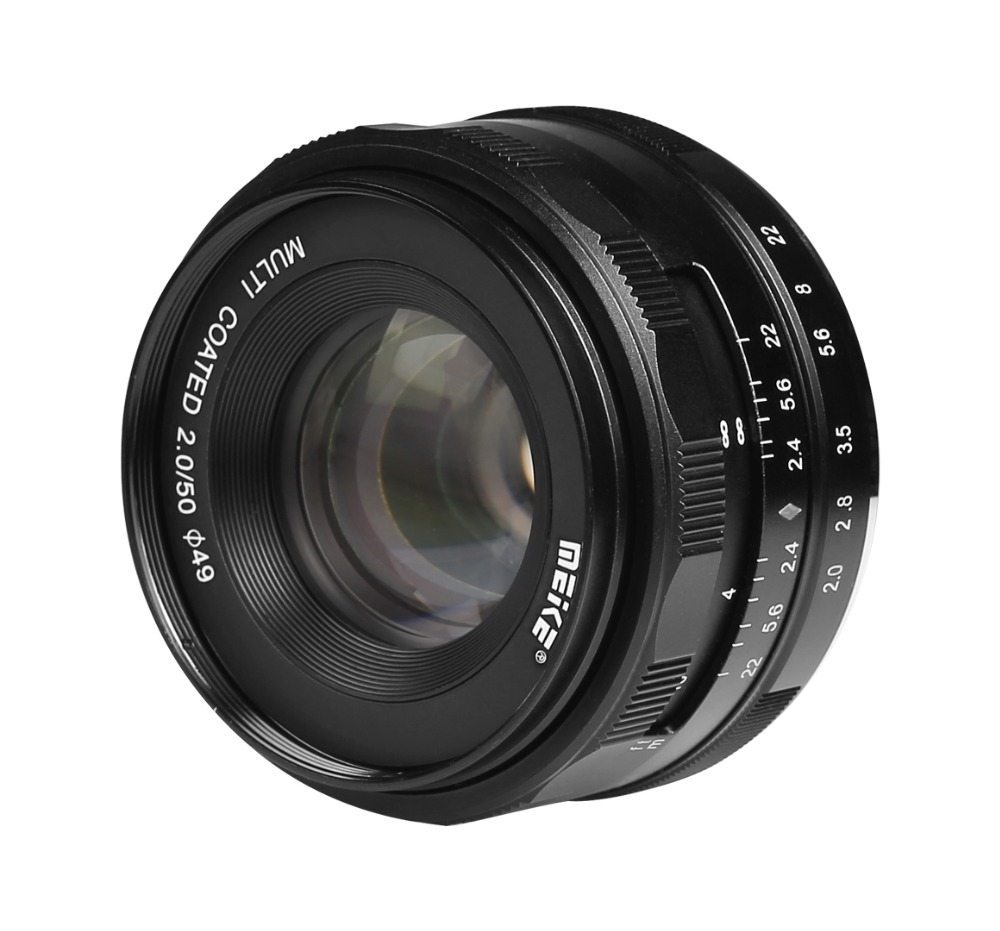 Meike 50mm f2.0 manual focus large aperture APS-C lens for FUJI X-Pro2/X-E3/X-T1/X-T2/X-T10/X-T20/X-A2/X-E2/X-M1/X-E1/X-A1/XPro1 vocabulario elemental a1 a2 2cd