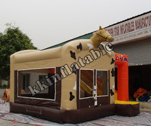 New arrival factory wholesale Horse inflatable bouncer slide combos