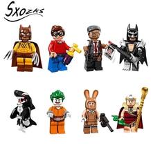 Single Sale  Avenger Super Heroes Bat girl Batman singer killer whale Cat man naughty Building Blocks Toys for Children Figures