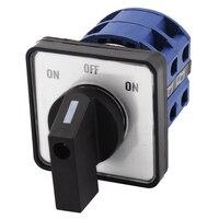 Оптовая продажа AC660V 25A 2-полюсный 3-позиция мгновенный Пластик поворотный переключатель синий + черный