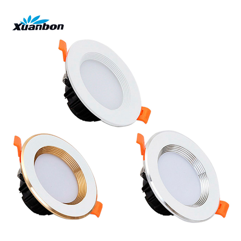 LED Downlights Dimmable Lamp 3W 5W 7W 9W 12W 15W 18W Ceiling Recessed downlight Panel Indoor lights AC110V 220V SMD 5730 led downlights 3w 5w 7w 9w 12w 15w 18w 220v led ceiling downlight 5730 lamps led ceiling lamp home indoor lighting