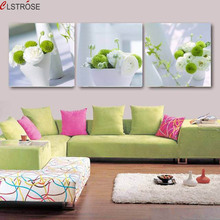 CLSTROSE New Arrival 3 Pieces Modern Flower Canvas Painting Large Wall Pictures For Living Room Home Decor On The