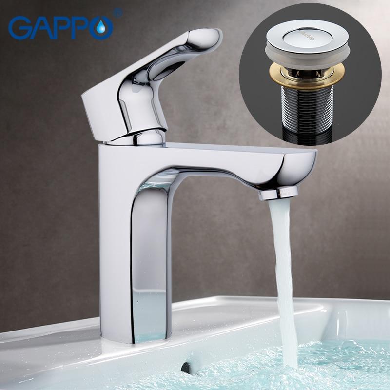 GAPPO d'eau mélangeur bassin de salle de bain lavabo en laiton salle de bains robinet mélangeur s moderne salle de bains robinet mélangeur lavabo chromé robinet G1011