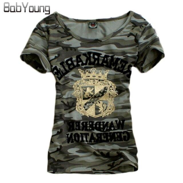 Camouflage Augmenté Uniforme D'été shirt T Tops T Femmes 2018 Motif Militaire 0gOEwfq
