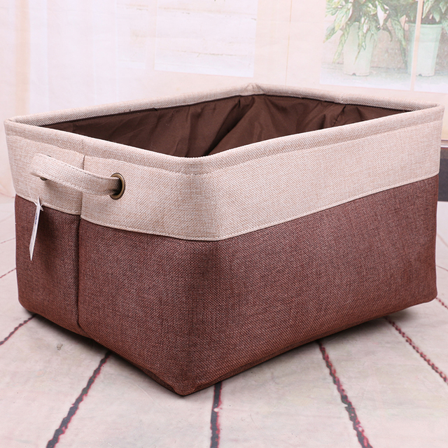 Bunched Storage Baskets Cotton Cloth Folding Box Drawstring Laundry Bin Desktop Debris Organizer