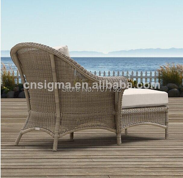 hot sale designed outdoor garden rattan armed lounger daybedchina mainland