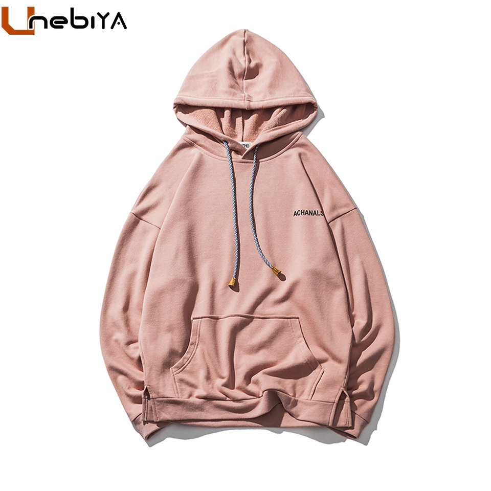 Unebiya Brand Achanals Print Solid Men Women Unisex Hoodies Track Suit Casual Soft Feel Male Female Couple Fashion Sweatshirt