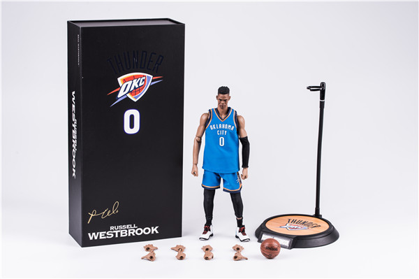 34cm NBA basketball star Russell Westbrook 0 No. 1/6 Mobile DOLL Action Collectible Statue Toy Figure профессиональная портативная рация vertex vx 451