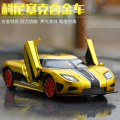 1:32 kids toys Fast & Furious 7 Koenigsegg Mini Auto metal toy cars model pull back car miniatures gifts for boys children m260