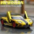 1:32 niños juguetes Fast & Furious 7 Koenigsegg Mini Auto de metal tire hacia atrás de coches de juguete de coches miniaturas de regalos para niños de los niños m260