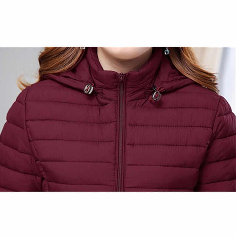 Пуховики из хлопка для женщин 2019 осень зима парки с капюшоном плюс Размер 6XL сохраняющее тепло пальто тонкие женские топы IOQRCJV N172