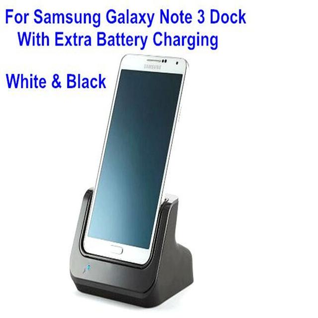 Desktop sync cargador estación de acoplamiento de carga dock para el samsung galaxy note 3 sostenedor de la horquilla del cargador de batería con 3.5mm de audio