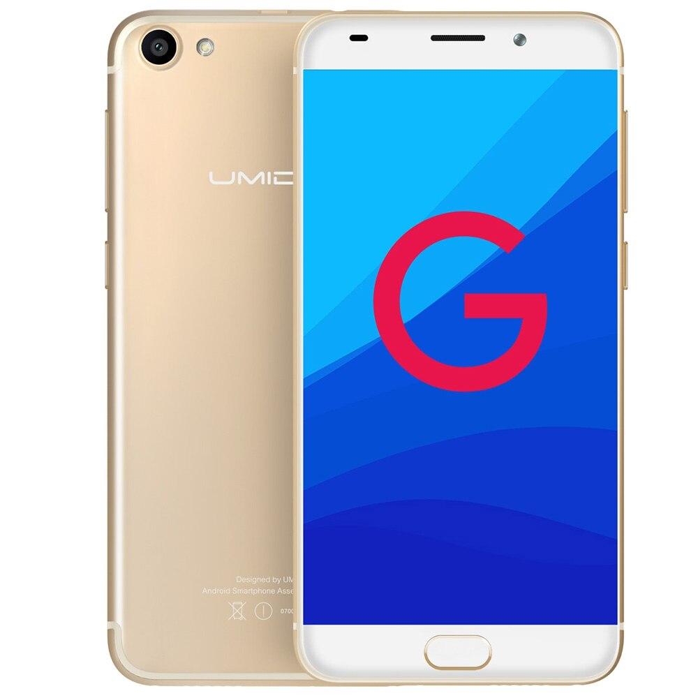 UMIDIGI G 4G 5.0 Inch Smartphone Android 7.0 MTK6737 Quad Core Cellphone 1.3GHz 2GB+16GB E-compass Fingerprint Scanner Phones