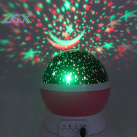 ZGX Led Rotating Night Light Projector Spin Starry Sky Star Moon Master Children Kids Baby Sleep