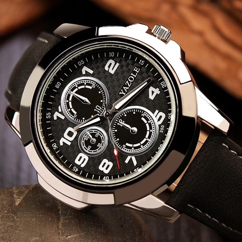 2018 Yazole Sport Watch Men Watches Top Brand Luxury Famous Male Clock Quartz Watch Leather Quartz-watch Relogio Masculino цена