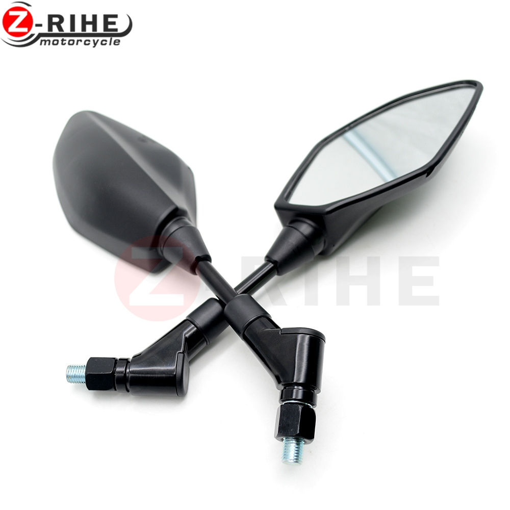 8mm 10mm Thread Mirrors Motorcycle Rear View Mirror End Side Rearview Mirror For Triumph Tiger 800 1050 Rocket III Street Triple 10mm aluminum alloy chrome oval custom rearview mirror motorcycle rear view mirrors for gn motorcycle