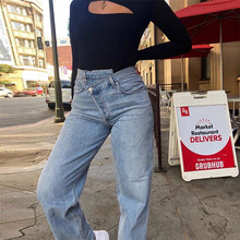 Women Summer 2019 Mom Jeans Straight Casual Denim Pants Boyfriends Femme Trousers Streetwear Vintage Retro