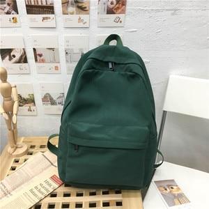 Image 2 - 2020 Backpack Women Backpack Solid Color Women Shoulder Bag Fashion School Bag For Teenage Girl Children School Backpacks Female