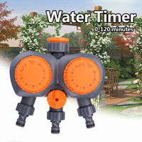 2 Head Automatic Electronic Water Timer Valve Mechanical Timing Water Flow Switch Garden Irrigation Controller Watering System