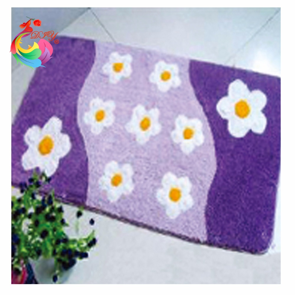 Crochet hook embroidery Latch hook rug kits cross-stitch kits Kits for embroidery stair carpet mats Carpet embroidery flowers