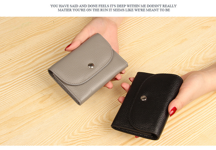 Fashion Simple Genuine Leather Wallet Coin Purse Men Women Zipper Real Cowhide Short Small Slim Card Holder Case Female Male New