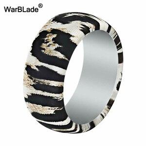 Image 3 - חדש הדפס מנומר סיליקון טבעות לגברים חתונה גומי להקות היפואלרגנית גמיש ספורט אנטיבקטריאלי סיליקון אצבע טבעת