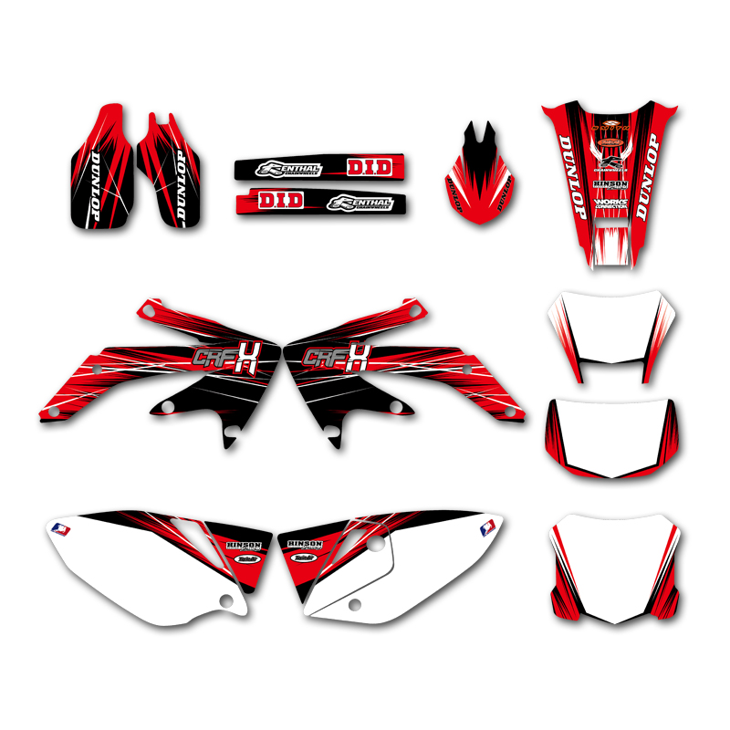 Decal Graphics Motorcycle Sticker Kit For Honda CRF450X CRF 450X 450 X 4 Stroke 2004-2018 2017 2016 2015 2014 2013 2012 2011