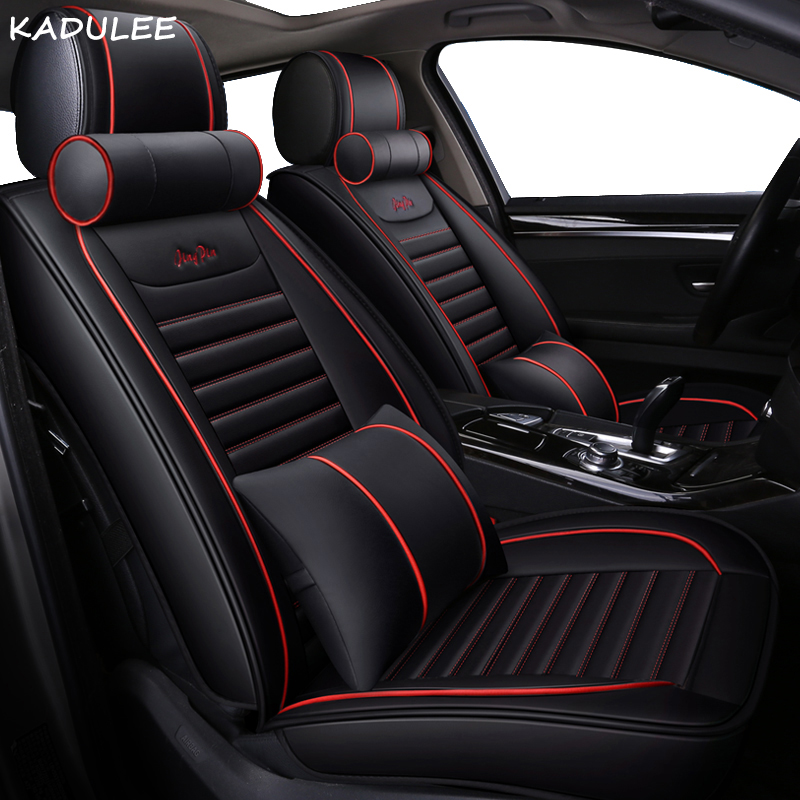 KADULEE Car Seat Covers For Mitsubishi Outlander Sport Pajero ASX Lancer SPORT EX Zinger FORTIS Outlander Grandi Car-styling