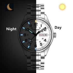Image 3 - Double calendar Date T25 Tritium Luminous Quartz military watch waterproof 200M Sapphire Brand Watches Mens full steel relojes