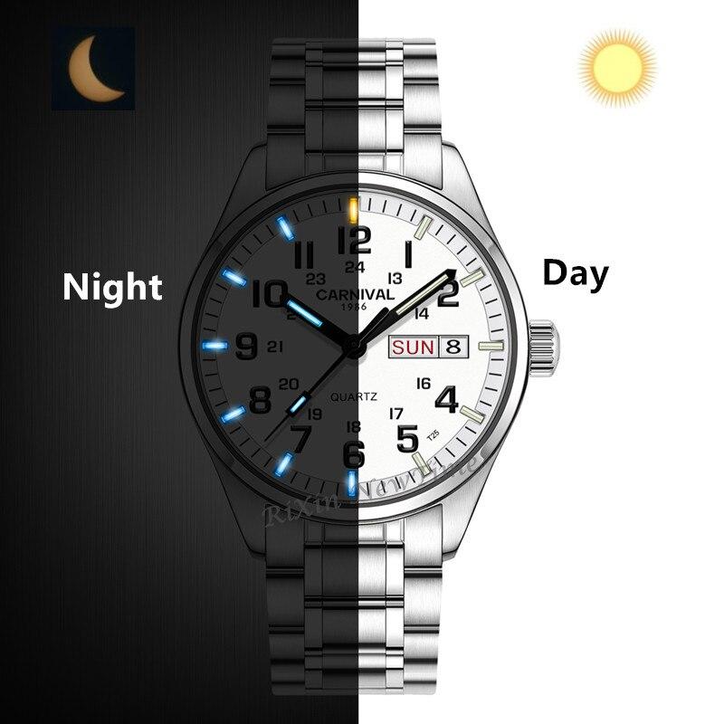 Nouveau Double calendrier Date T25 Tritium lumineux Quartz montre militaire étanche 200M Sport marque montres hommes plein acier relojes-in Montres sport from Montres    3