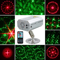 Mini R G 24 Patterns Laser Projector Lights Sound Activated Dance Disco Bar Family Party Holiday