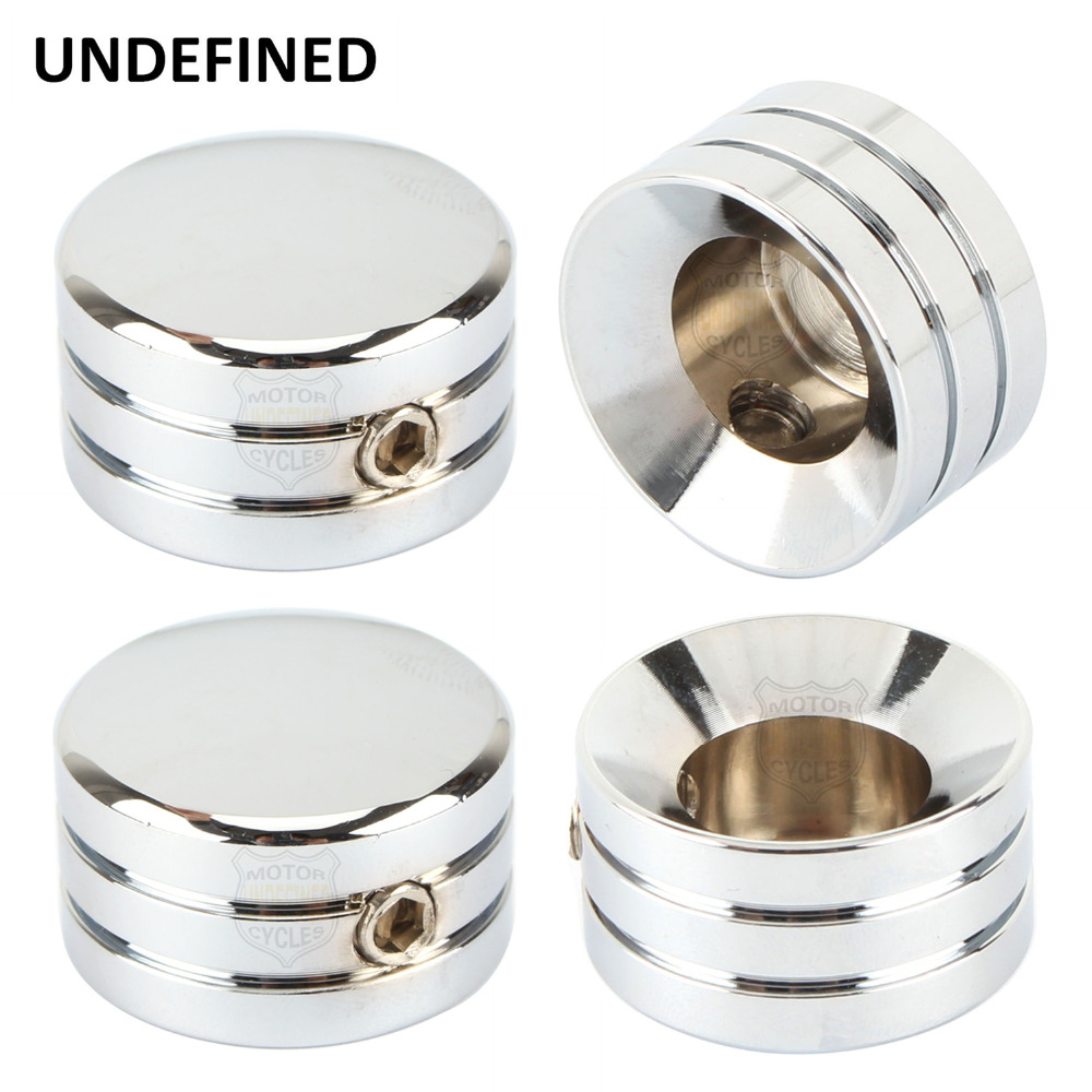 4 Pcs Chrome Motorcycle Parts Head Bolt Cover Screw Cap Case For