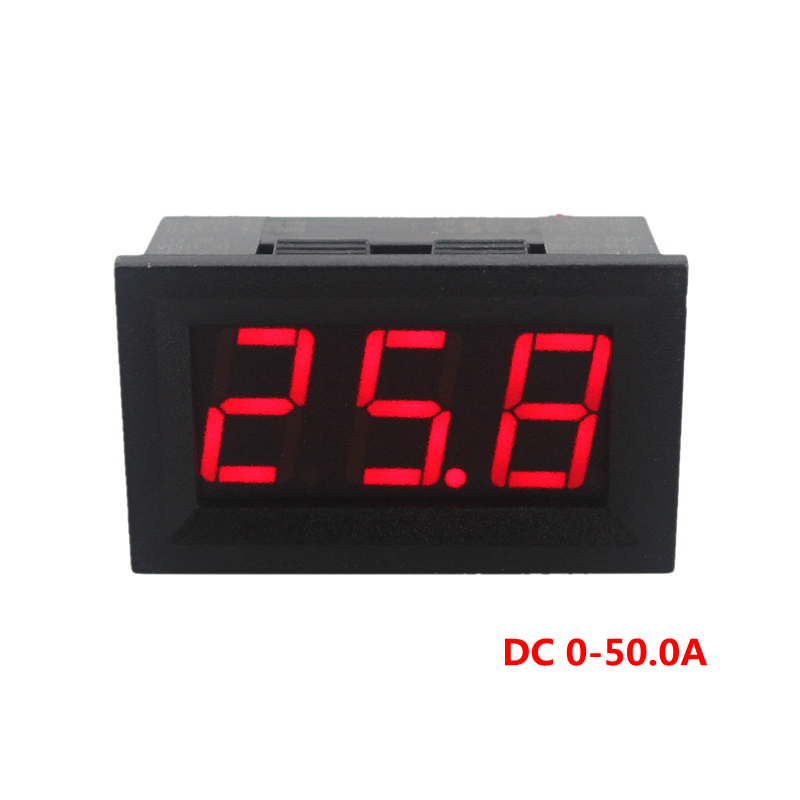 Digital Panel Meter 9v 3 5 : Mini digital ammeter ampere current panel meter dc a v