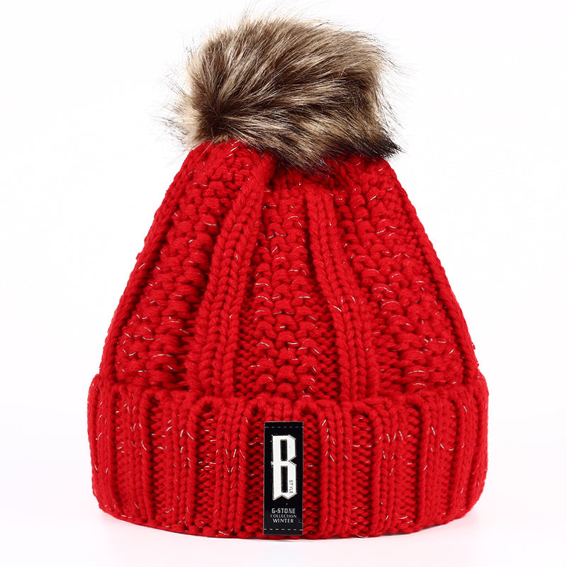 TUNICA Autumn and winter women hat new winter thick cotton fashion adult wool ski knitting hat women cap hat skullies & beanies fashion autumn and winter knitting wool hat men and women winter cap lovely hair ball beanies bone gorros accessory colorful new