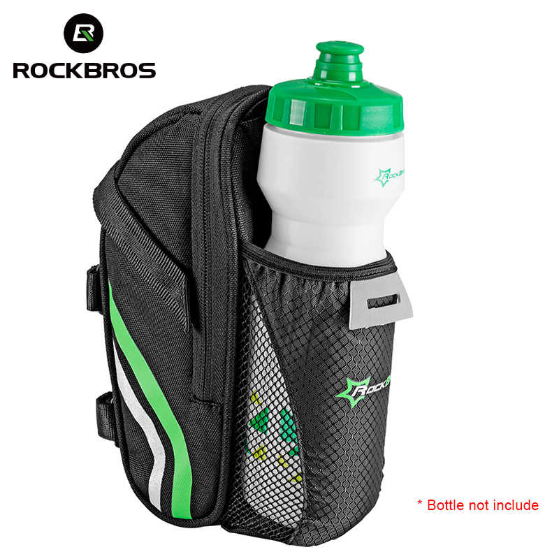 ROCKBROS Bicycle Bike Rear Bag Rainproof Nylon Bike Saddle Tube Bag Outdoor Cycling Mountain Bike Back Seat Tail Pouch Package