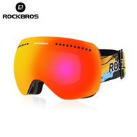 ROCKBROS Profess Skiing Snowboard Magnet Goggles Man Women Anti Fog Windproof Cycling Glasses Large Spheral Myop