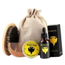 Gentlemen Beard Oil Set Moisturizing Treatment Beard Moisturizer Facial Hair Moustache Oil Pure Organic Beard Oil Growth