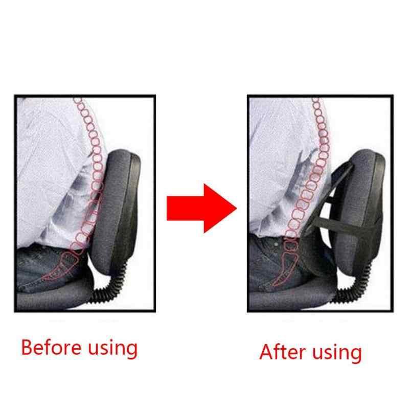 カーシートバックサポートマッサージクッションメッシュリリーフ腰椎ブレース車トラックオフィスクッション座椅子腰椎バックサポートチェア