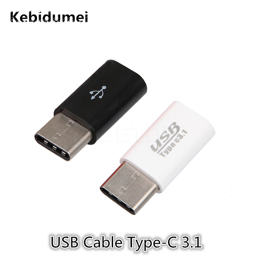 Kebidumei Mini USB-C 3.1 Type C Male to Micro USB Female Adapters Type-C Converter Mobile Phone Cables For Tablet & Mobile Phone