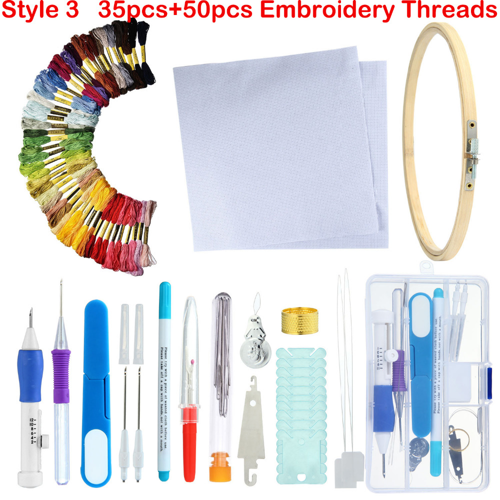 1PC Pen + 4 Needles Magic Embroidery Pen Punch Needle Pen Craft Needle Weaving Tool Accessories Sewing Crafts for DIY Sewing Pattern Knitting Cross Stitching Hopeg Embroidery Pen