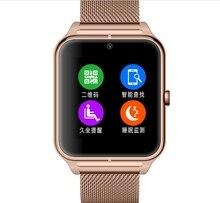 แฟชั่นบลูทูธดูสมาร์ทกับซิมการ์ดTF mp3 mp4ที่รองรับสมาร์ทนาฬิกาที่มีแอปเปิ้ลและAndroidโทรศัพท์