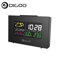 Digoo DG C3 Wireless Color Backlit USB Hygrometer Thermometer Weather Forecast Station Alarm Clock Tempreture Humidity