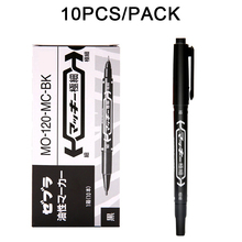 Pro 10 Pcs Black Color Tattoo Marking Pen Dual Tip Marker Piercing Disposable Supply Free Shipping