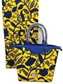 new arrival African wax set with Handbags 6Yards Dutch Wax Fabric hollandais& Hand Bag Super Wax Fabric Ankara  WB-009