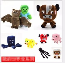 Promotion Minecraft Plush Toy Ghast/Enderman/Wolf/Ocelot/Pig/Squid/Bat/Creeper Plush Doll Toys For Kids Baby Game Minecraft Hot(China)