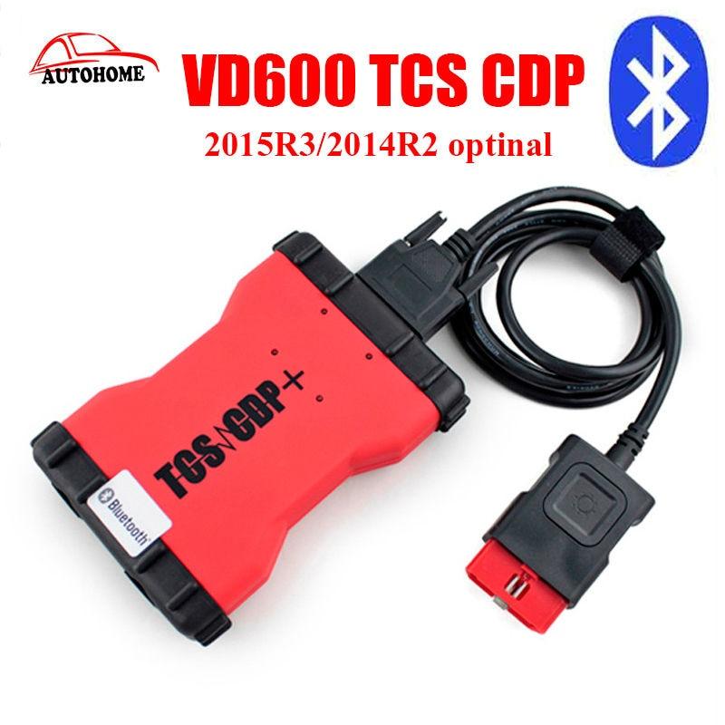 Цена за 2016 Новый Высокое Качество мвд VD600 TCS cdp 2015R3/2014R2 optinal + новый vci cdp pro plus мвд для автомобилей с бесплатно china post доставка