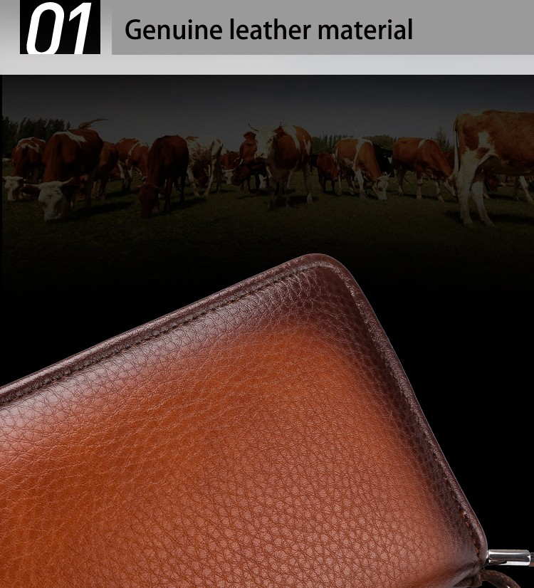 2016 Luxury Male Leather Purse Men\'s Clutch Wallets Handy Bags Business Carteras Mujer Wallets Men Black Brown Dollar Price (9)