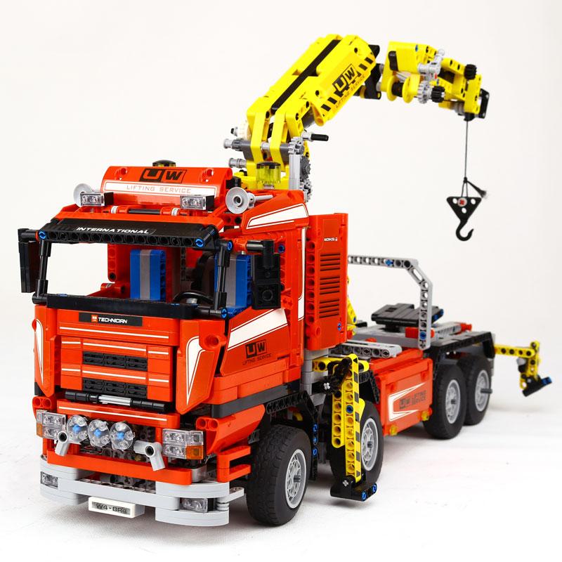 NEW LEPIN 20013 technic series The Electric Crane Truck Model Building blocks Bricks Compatible LegoING 8258 Toy Christmas Gift new lp2k series contactor lp2k06015 lp2k06015md lp2 k06015md 220v dc
