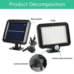 Image 2 - Iluminação led 56 leds, para parede, com sensor de movimento pir, para áreas externas, à prova d água, sensor infravermelho, para jardim