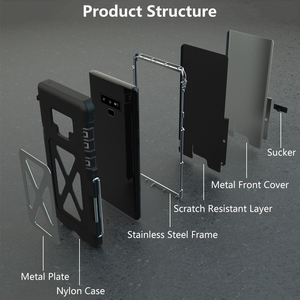Image 2 - Armor King In Acciaio Inox Metallo di Caso di Vibrazione Per Samsung Galaxy Note 9 10 Antiurto Copertura Per Samsung Note9 S10 5G di Lusso del Metallo